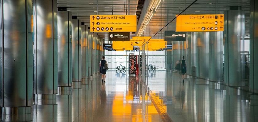 Hal van een luchthaven